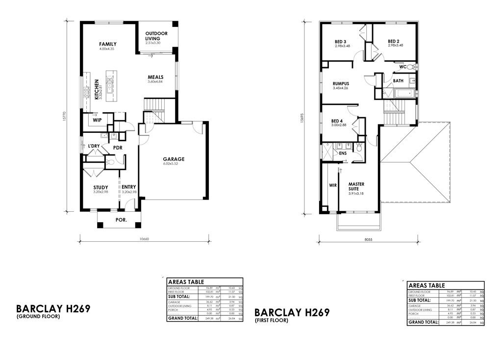 Barclay H352 H269 Floorplan