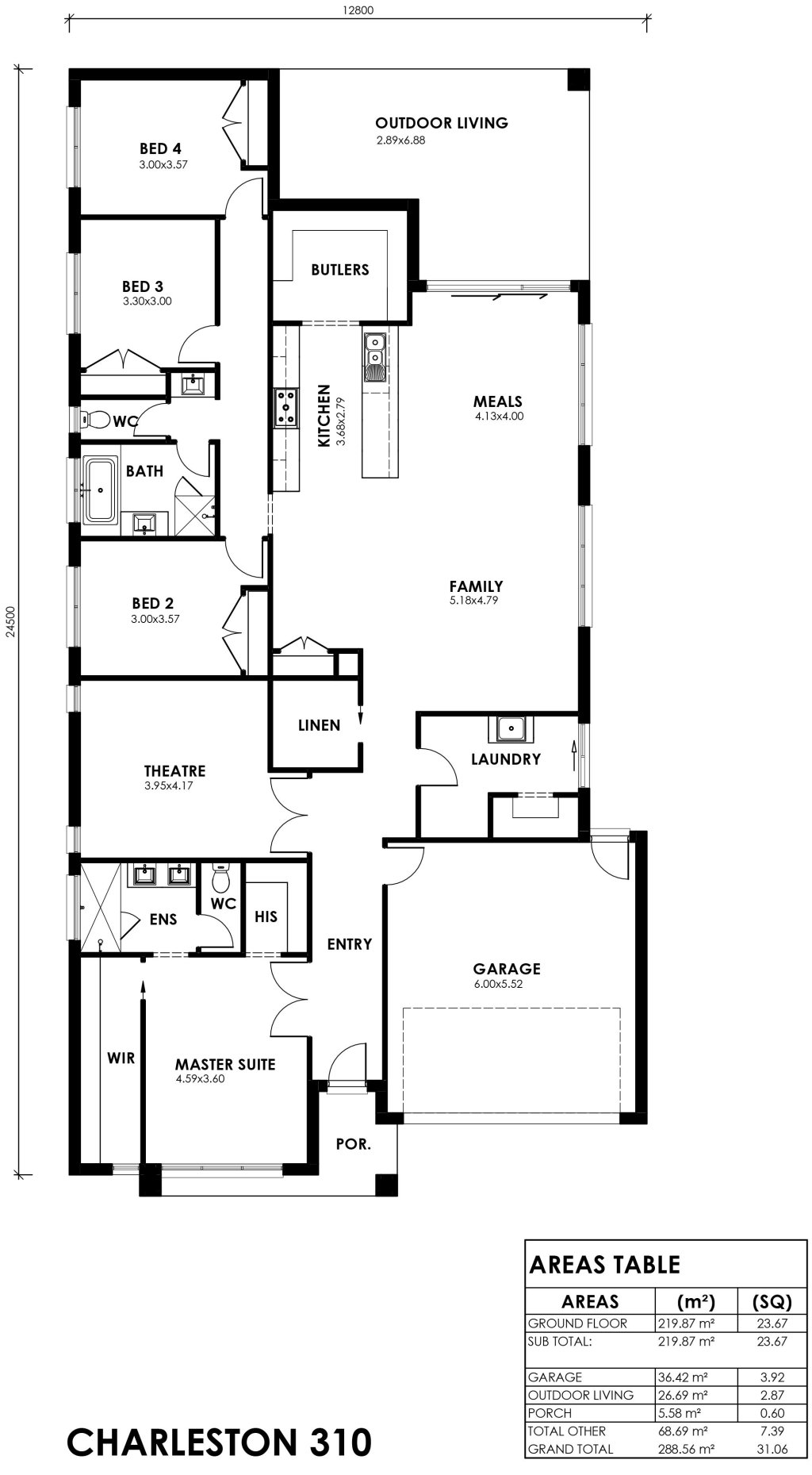 Charleston 310 Floorplan