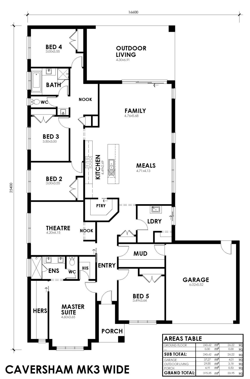 Caversham Mk3 Wide Mk3 Wide Floorplan