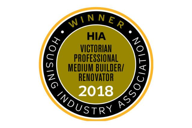 SJD Wins HIA Vic Professional Medium Builder of the Year!